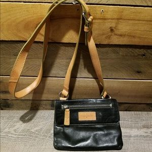 Cole Haan Black Leather Crossbody Bag